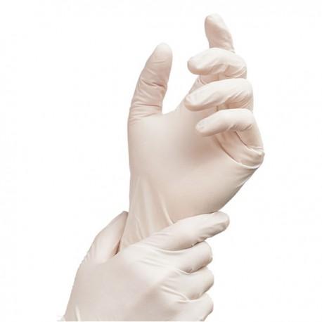 Gants jetables latex poudrés - 100 gants Taille 6.5