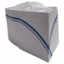 Calot de cuisinier liseré bleu - boîte de 100