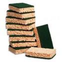 10 Eponges végétales avec tampon vert 130x84x24 cm