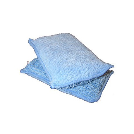 Lot 200 Éponges Microfibre bleu 14X9cm