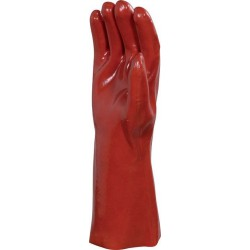 Gants PVC supérieur rouge
